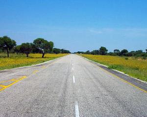 Snelweg deur Botswana