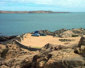 Kampplek op Shark Island Luderitz